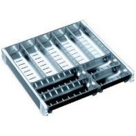 Cutlery tray system (NL500), 440mm wide for KB800/900 drawers (white frame, s/steel inserts), set