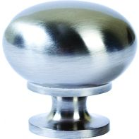 "Knob ""Beckett"", convex, brushed nickel"