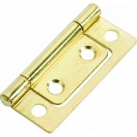 "Hirline hinge, steel, 2"", brass-plated, each"