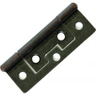 "Hirline hinge, steel, 2"", Florentine-bronze finish, each"