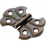 "Decorative case hinge ""Fancy"", 36mm, florentine-bronze finish, each"