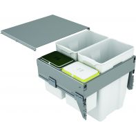 Sige quadruple waste organiser (soft-close ) soft-close, suits 600mm width, 85l (2x35l, 2x7.5l), ea.