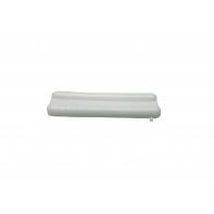 Glide pad, staple on, white, each