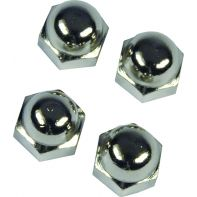 "Metlam acorn nut, 1/4"" BSW, satin chrome, each"