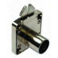 BMB roller shutter lock housing with striker plate, nickel plated, ea.