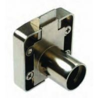 BMB slam lock housing with double function, nickel plated, ea.