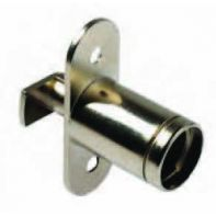 BMB push turn lock housing for sliding doors, nickel plated, ea.