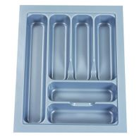 """Cutlery tray """"Capricorn 450S"""", silver, suits 450mm wide drawer (W385-325 x D485-425 x H60mm), each"""