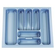 """Cutlery tray """"Capricorn 600S"""", silver, suits 600mm wide drawer (W530-470 x D485-425 x H60mm), each"""