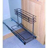 Tradecraft pull-out rack (bottom-mounted), chrome suits 400mm width, ea.