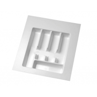 Plastic Cutlery Insert. White 5 Compartment. D=434 W=490 H=56