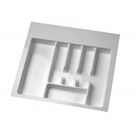 Plastic Cutlery Insert. White 5 Compartment. D=490 W=540 H=56
