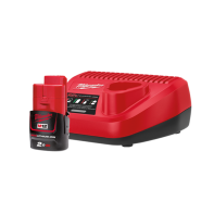 Milwaukee M12 Starter Pack, 1x 2AH Battery & Charger
