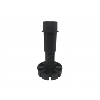 Cabinet plinth leg, adjustable 110-170mm, leg only, black, box 200