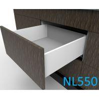 Topaz Slimline Mid-height Drawer Kit H167, NL550, screw-fix, white (each)