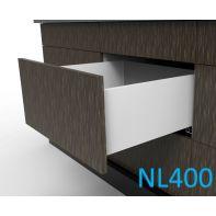 Topaz Slimline Tall Drawer Kit H199, NL400, quick-dowel fix, white (each)