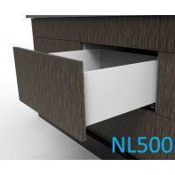Topaz Slimline Tall Drawer Kit H199, NL500, quick-dowel fix, white (each)