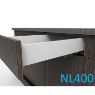 Topaz Slimline Standard Drawer Kit H86, NL400, quick-dowel fix, white (each)
