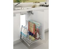 Sige undersink pull-out, suits 300mm cabinet, bottom-mount, 230W x 495D, each