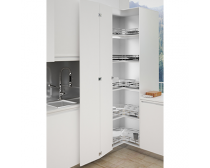 Sige 3/4 carousel, suit 900x900mm corner cabinet, 700W x 700D x 110H, set of two shelves