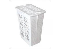 Sige spare basket for 191506 double laundry hamper, 30l, incl. lid, white plastic, each