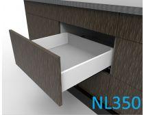 Topaz Slimline Maxi Drawer Kit H118, NL350, screw-fix, white (each)