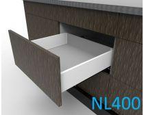 Topaz Slimline Maxi Drawer Kit H118, NL400, screw-fix, white (each)