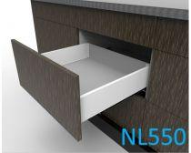 Topaz Slimline Maxi Drawer Kit H118, NL550, screw-fix, white (each)
