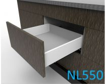 Topaz Slimline Maxi Drawer Kit H118, NL550, quick-dowel fix, white (each)