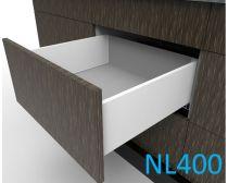 Topaz Slimline Mid-height Drawer Kit H167, NL400, screw-fix, white (each)