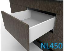 Topaz Slimline Mid-height Drawer Kit H167, NL450, quick-dowel fix, white (each)