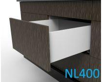 Topaz Slimline Tall Drawer Kit H199, NL400, screw-fix, white (each)
