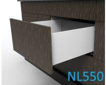 Topaz Slimline Tall Drawer Kit H199, NL550, quick-dowel fix, white (each)