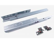 Topaz undermount drawer slides, soft-close, synchronised, 30kg load capacity, incl. 3D adjustment clips